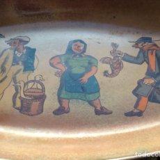 Antigüedades: BONITA BANDEJA DE PORCELANA DECORADA PARA HORNO. . Lote 173531492