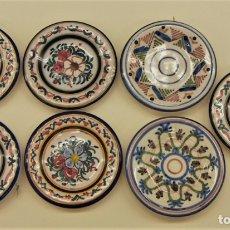 Antigüedades: 7 PEQUEÑOS PLATOS DECORATIVOS. Lote 173551783