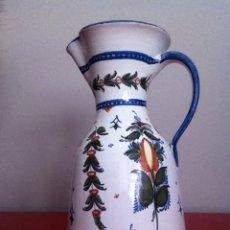 Antigüedades: ANTIGUA JARRA DE PORCELANA -FIRMADA G.VERTES. TALAVERA. Lote 173582240
