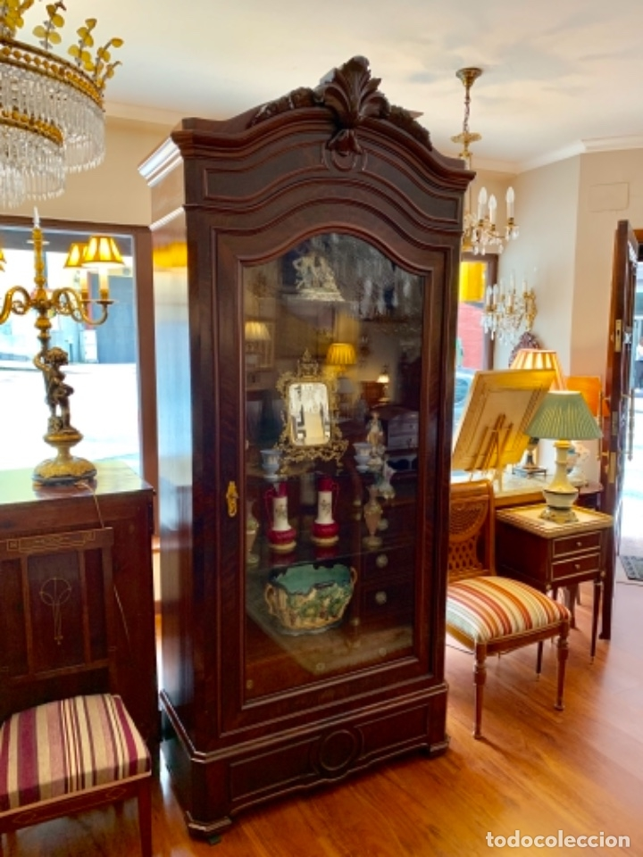 Antigüedades: Maravillosa vitrina isabelina - Foto 2 - 173588712