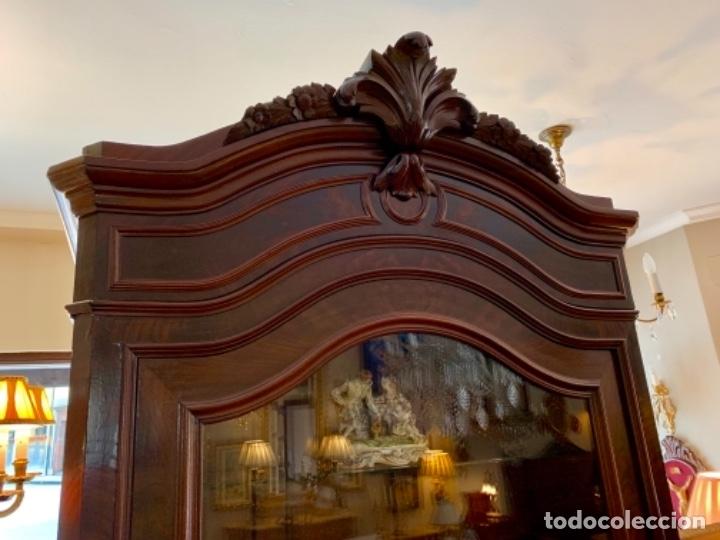 Antigüedades: Maravillosa vitrina isabelina - Foto 3 - 173588712