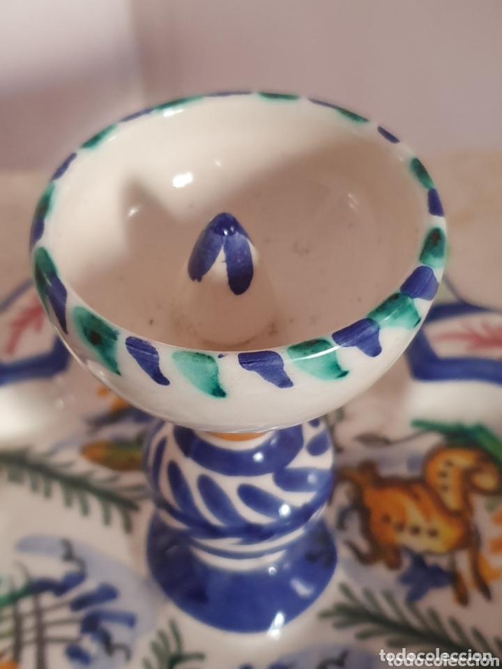 Antigüedades: PRECIOSO CENICERO CON FORMA DE FUENTE CERÁMICA DE TRIANA - Foto 3 - 173594460
