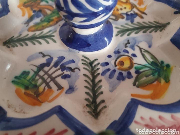 Antigüedades: PRECIOSO CENICERO CON FORMA DE FUENTE CERÁMICA DE TRIANA - Foto 6 - 173594460