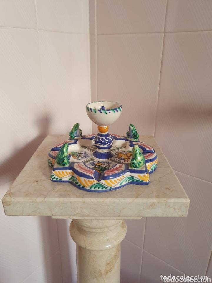 PRECIOSO CENICERO CON FORMA DE FUENTE CERÁMICA DE TRIANA (Antigüedades - Porcelanas y Cerámicas - Triana)