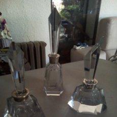 Antigüedades: * BOTELLAS DE PERFUME DECO . CRISTAL (RF:BH/BE). Lote 173628228