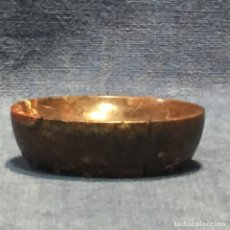 Antigüedades: SALERO PELLIZCO DESPOJADOR MARMOL TALLADO PULIDO S XIX XX 2X6,5X5CMS. Lote 173645645