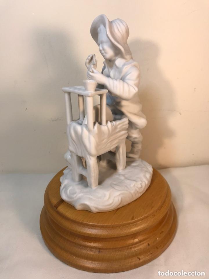Antigüedades: Figura Porcelana Biscuit- Cebreros- Afilador- 19 cm - Foto 9 - 173653492