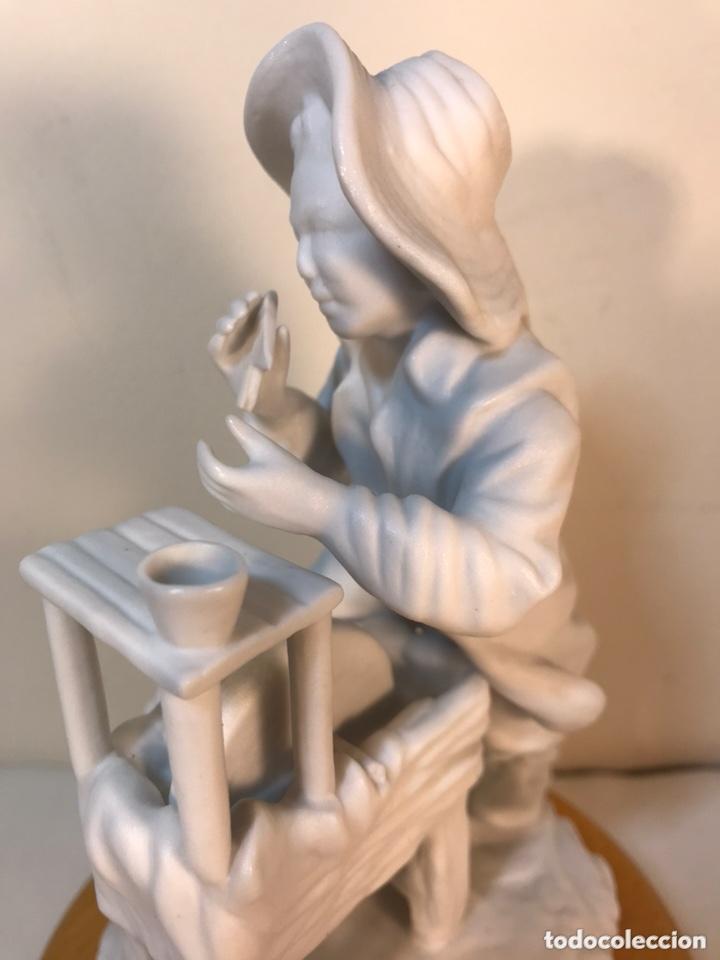 Antigüedades: Figura Porcelana Biscuit- Cebreros- Afilador- 19 cm - Foto 11 - 173653492