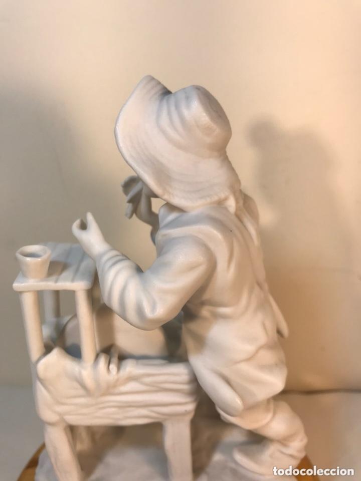 Antigüedades: Figura Porcelana Biscuit- Cebreros- Afilador- 19 cm - Foto 14 - 173653492