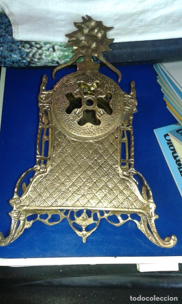 Antigüedades: RELOJ DE MESA DE METAL - Foto 2 - 173653997