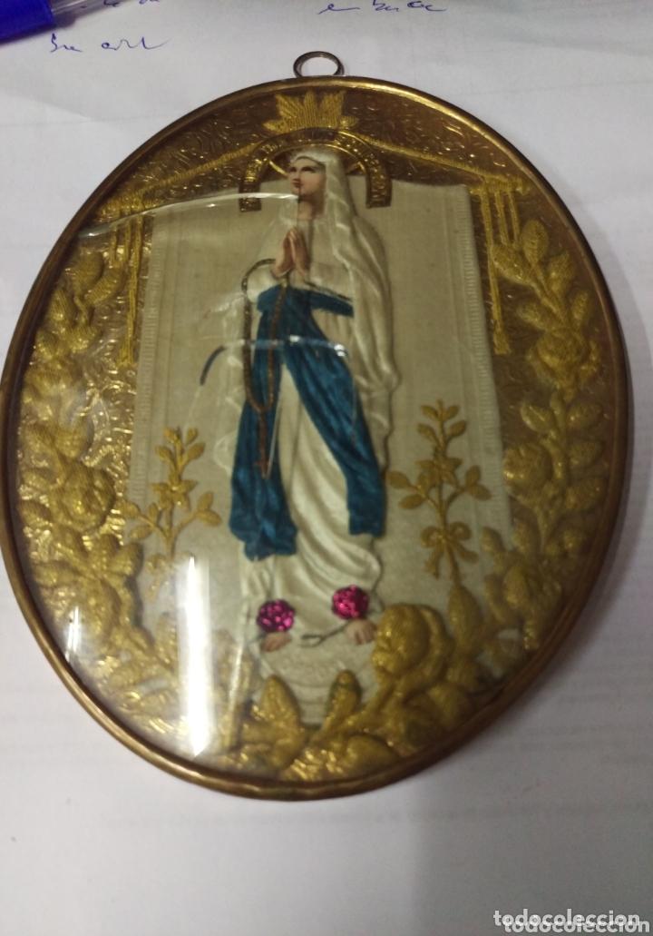 Antigüedades: Recuerdo relicario INMACULADA CONCEPCION. Francia pp. siglo - Foto 2 - 173654684