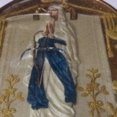 Antigüedades: RECUERDO RELICARIO INMACULADA CONCEPCION. FRANCIA PP. SIGLO. Lote 173654684