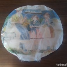 Antigüedades: ANTIGUO COJÍN ORGANZA. PINTADO A MANO.. Lote 173660303