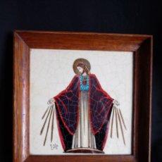 Antigüedades: PEQUEÑO CUADRO VINTAGE DEL SAGRADO CORAZÓN. Lote 173667270