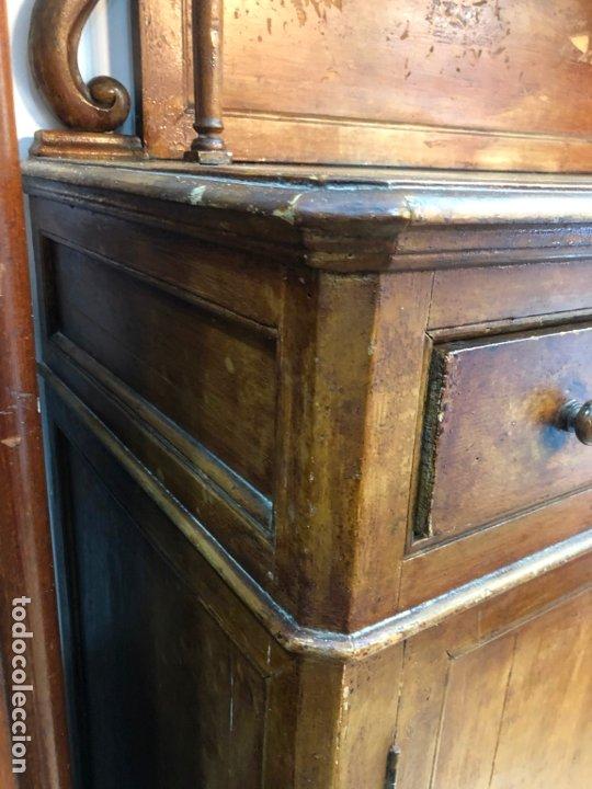 Antigüedades: MUY ANTIGUO MUEBLE DE COCINA PLATERO DE PINO - MEDIDA 165X120X54 CM - Foto 6 - 173667912