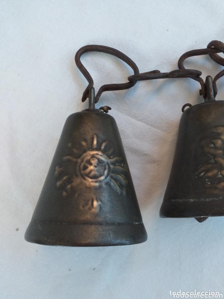 Antigüedades: 3 Esquilas, campanillas, cencerros, campanas - Foto 2 - 173668779