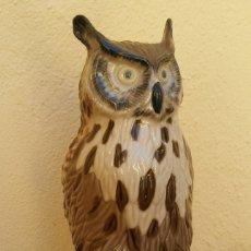 Antigüedades: PRECIOSA FIGURA DE PORCELANA NADAL, BUHO, PERFECTO ESTADO, SELLO EN LA BASE, NUMERADA.. Lote 173670348