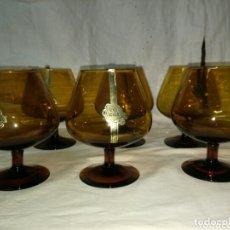 Antigüedades: 6 COPAS DE COÑAC SIN USO GLASS SANBO. Lote 173674882