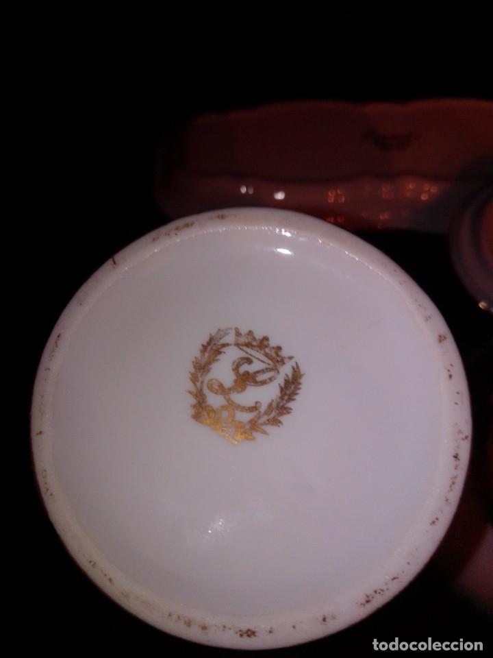 Antigüedades: Juego de tocador de porcelana Laurent's, oro 24K, decorado a mano. Nuevo, de antigua joyería. - Foto 7 - 173683450