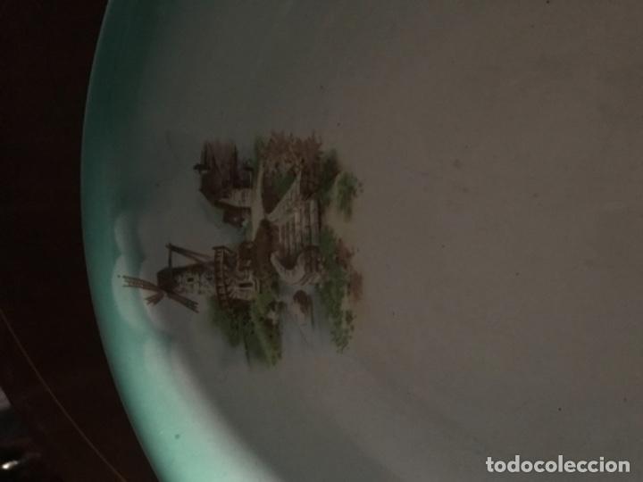 Antigüedades: Aguamanil o Palangana loza Pickman verde demo vidriada porcelana Sevilla Cartuja - Foto 2 - 173735784