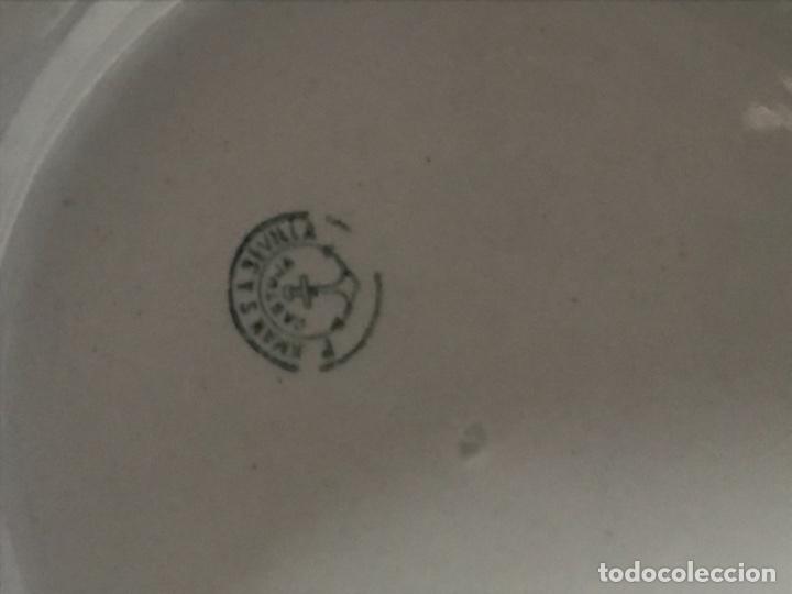 Antigüedades: Aguamanil o Palangana loza Pickman verde demo vidriada porcelana Sevilla Cartuja - Foto 9 - 173735784
