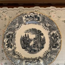 Antigüedades: PLATO LLANO DE LA CARTUJA DE SEVILLA-PICKMAN.. Lote 173738030