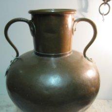 Antigüedades: CENTENARIO CANTARO DE COBRE MARTILLEADO. Lote 173747223