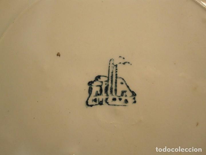 Antigüedades: PLATO LEVANTINO - MANISES CON DIBUJOS FLORALES DE FINALES DEL XIX - Foto 6 - 173750662