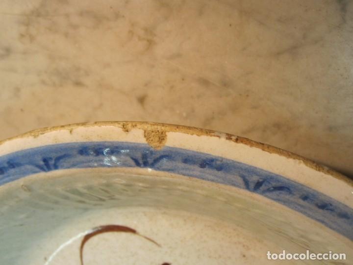 Antigüedades: PLATO LEVANTINO - MANISES CON DIBUJOS FLORALES DE FINALES DEL XIX - Foto 3 - 173750978
