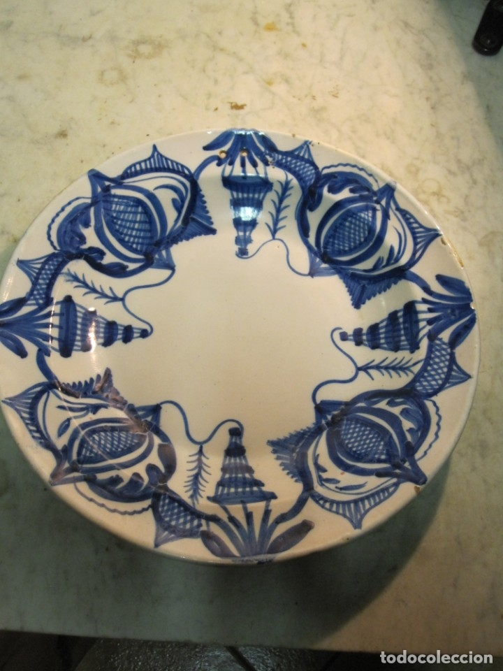 PLATO LEVANTINO (Antigüedades - Porcelanas y Cerámicas - Manises)