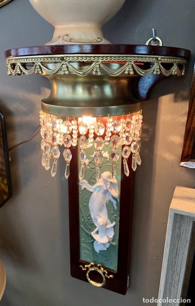 Antigüedades: Soberbia pareja de ménsulas con luz - Foto 3 - 173762152