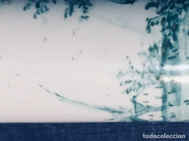 Antigüedades: ESTUCHE TUBO PORTA MENSAJES COBRE DORADO ESMALTE PAISAJE CASAS BATTERSEA BILSTON S XVIII 12X1,8CMS - Foto 24 - 173786770