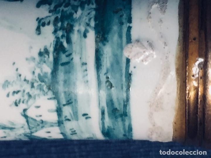 Antigüedades: ESTUCHE TUBO PORTA MENSAJES COBRE DORADO ESMALTE PAISAJE CASAS BATTERSEA BILSTON S XVIII 12X1,8CMS - Foto 25 - 173786770