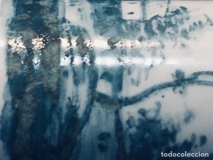 Antigüedades: ESTUCHE TUBO PORTA MENSAJES COBRE DORADO ESMALTE PAISAJE CASAS BATTERSEA BILSTON S XVIII 12X1,8CMS - Foto 33 - 173786770
