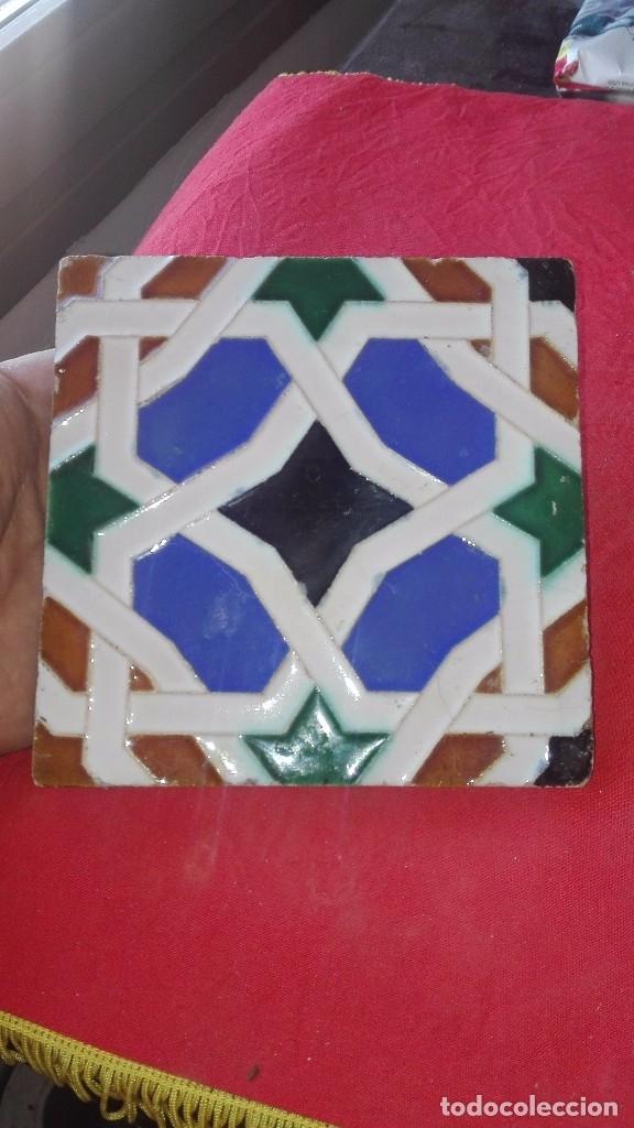 AZULEJO MENSAQUE.TRIANA.SEVILLA.AÑOS 40-50 (Antigüedades - Porcelanas y Cerámicas - Triana)