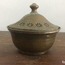 Antigüedades: CUENCO DE METAL - MEDIDA 15X14 CM. Lote 173801254