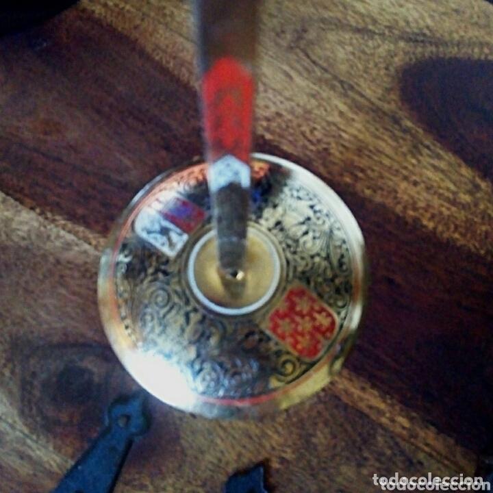 Antigüedades: Florete toledano. Con grabados y escudos Damasquinado. Arte toledano - Foto 5 - 173813593