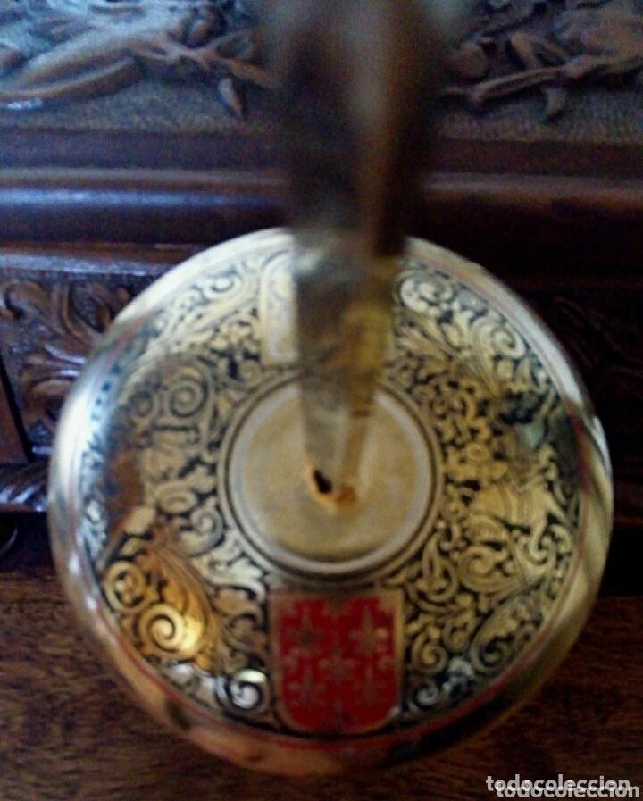 Antigüedades: Florete toledano. Con grabados y escudos Damasquinado. Arte toledano - Foto 6 - 173813593