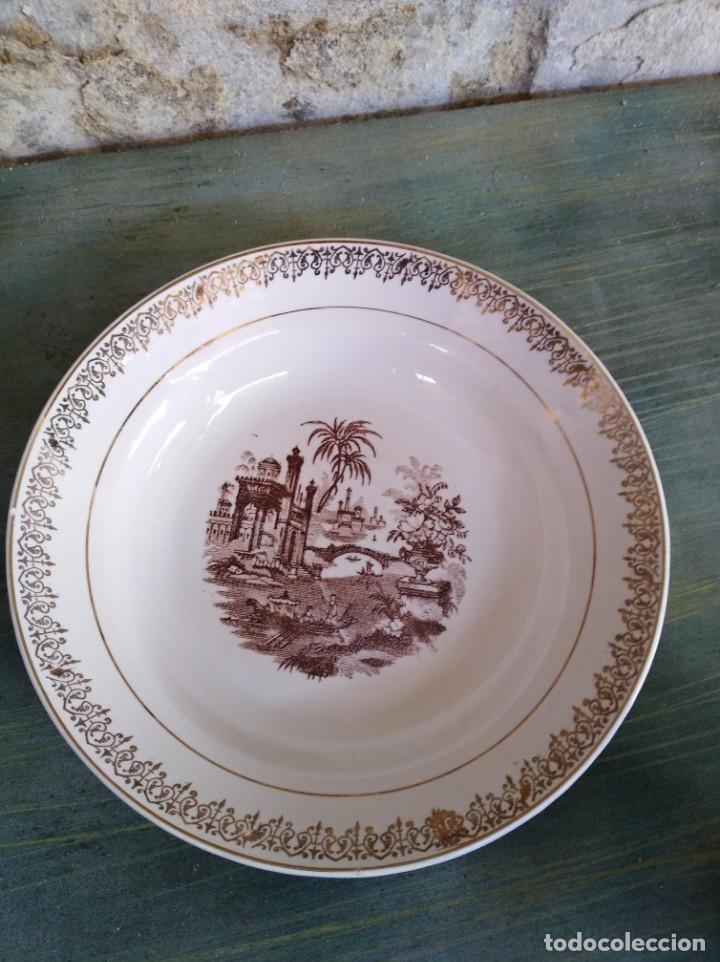 PLATO HONDO PICKMAN (LEER DESCRIPCIÓN) (Antigüedades - Porcelanas y Cerámicas - La Cartuja Pickman)