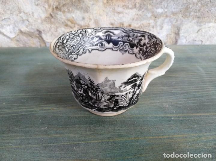 ANTIGUA TAZA DE LA CARTUJA PICKMAN (LEER DESCRIPCIÓN) (Antigüedades - Porcelanas y Cerámicas - La Cartuja Pickman)