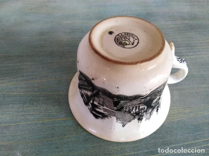 Antigüedades: Antigua Taza de La cartuja Pickman (leer descripción) - Foto 4 - 173813993