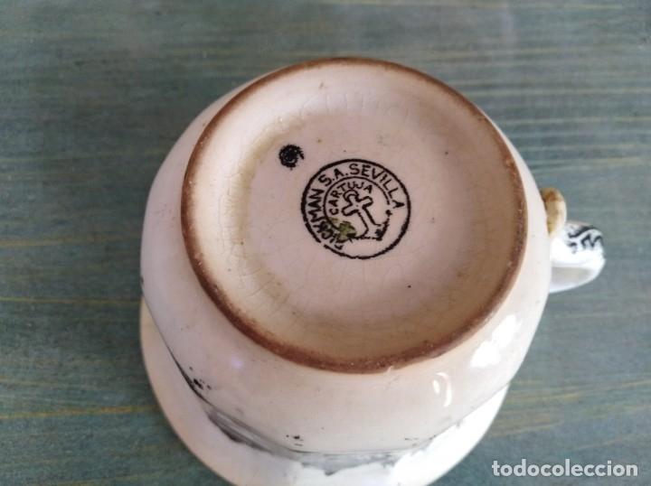 Antigüedades: Antigua Taza de La cartuja Pickman (leer descripción) - Foto 5 - 173813993