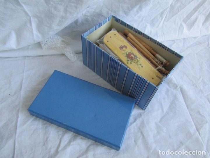 Antigüedades: Conjunto de bolillos de madera - Foto 8 - 173814407