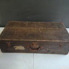Antigüedades: ANTIGUA MALETA DE MADERA. Lote 173814677