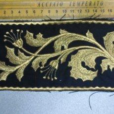 Antigüedades: BORDADO RELIGIOSO DORADO ORO SOBRE NEGRO - IDEAL SEMANA SANTA BANDA MUSICA AGRUPACION MUSICAL . Lote 173814915