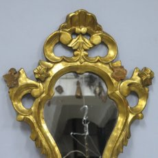 Antigüedades: ANTIGUA CORNUCOPIA DE MADERA TALLADA EN PAN DE ORO. FINALES SIGLO XIX. Lote 173815653