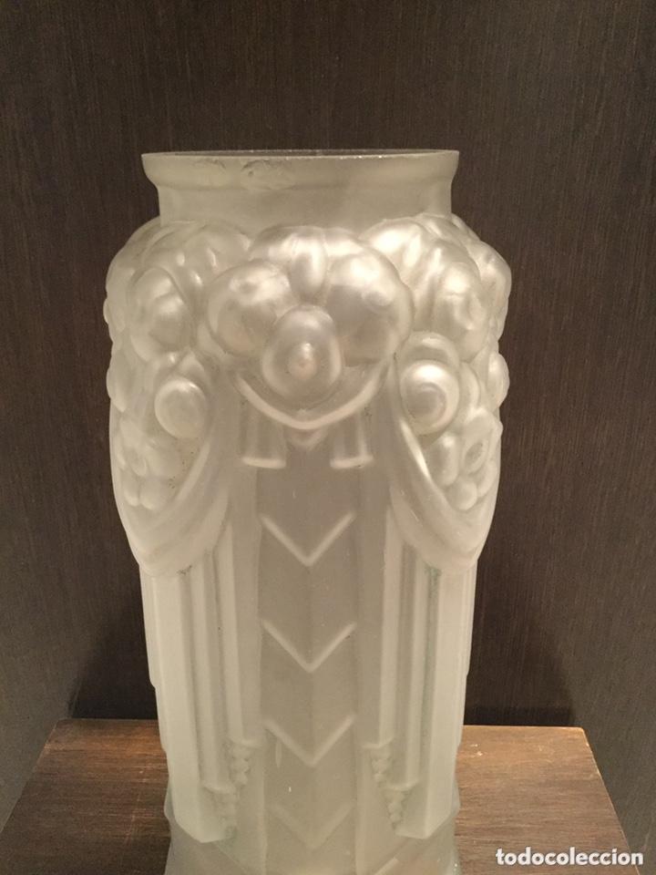 ANTIGUO JARRÓN MODERNISTA DE CRISTAL ESTILO LALIQUE (Antigüedades - Cristal y Vidrio - Lalique )