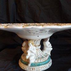Antigüedades: CENTRO DE PORCELANA ITALIANA CAPODIMONTE. Lote 173824140