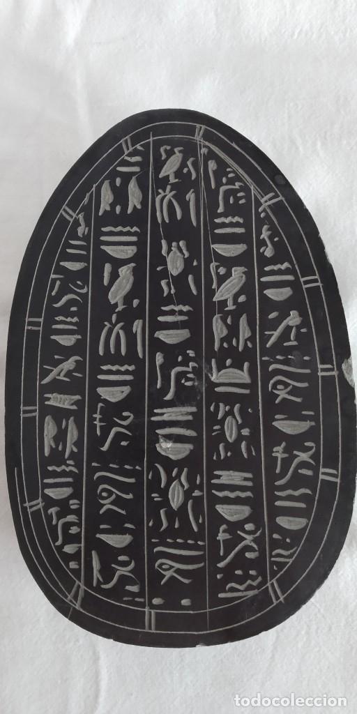 Antigüedades: ESCARABAJO EGIPCIO LABRADO A MANO EN BASALTO. SOUVENIR DE EGIPTO 17 X 11 X 4 - Foto 2 - 173839768