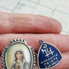 Antigüedades: PRECIOSO CAMAFEO, PINTADO A MANO. Lote 173840142
